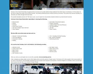 advance crime scene old website