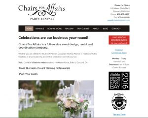 chairs for affairs events